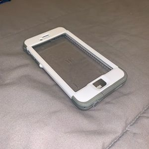 USED White & Gray Lifeproof Nüüd Case - iPhone 6s